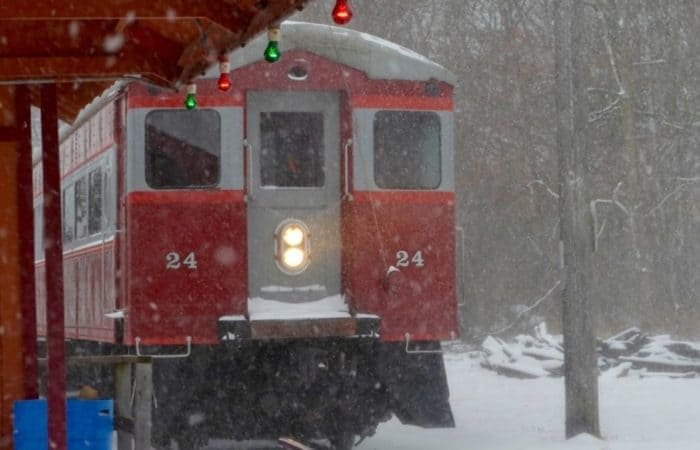 Santa Train Ride, East Troy Electric Railroad East Troy Christmas Trains Lake Country Family Fun